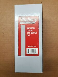 Mallory 29219 Ignition Coil 12 Volt High Output Chrome Red Top Street Performanc