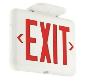 5x Exit Sign Thermoplastic Led Red Letters Dual lite Hubbell Lighting Eveurw