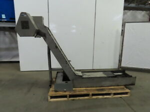 Incline Chip Conveyor Coolant Recovery 12 Belt 17 1 2 x15 3 4 Infeed 49 Disc