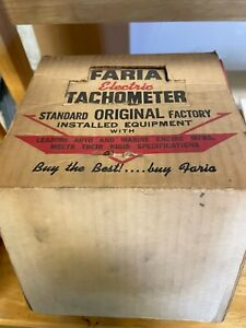 Vintage 1960 S Faria Tachometer New Old Stock
