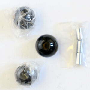 Hurst Original Real Lightning Rod Knobs With Chrome Steel Buttons Set Of 3 New