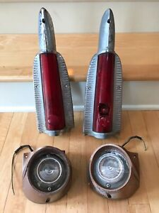 1956 Plymouth Fury Belvedere Savoy Used Brake Tail Lights Assembly Lot Is 1646