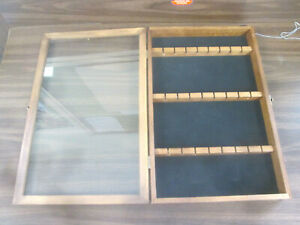 Display Case Solid Wood With Glass Front Door Spoons