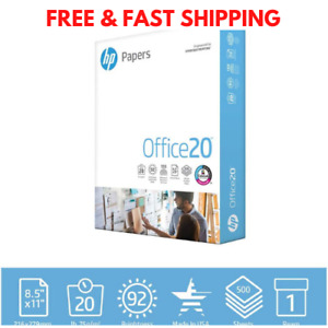 Hp Printer Paper 8 5 x11 Office 20 Copy Print Letter Ream 500 Sheets 172160r