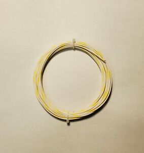 20 Awg 600v Mil spec Wire ptfe Wht yel Stranded Silver Plated 25 Ft