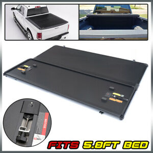 Hard Tri Fold Tonneau Cover Fits For 14 18 Silverado Sierra 5 8ft Short Bed