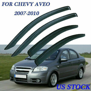 For Chevy Aveo 2007 2010 Window Visor Deflector Vent Sun Rain Guard Shade Smoke