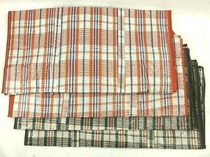 4 Checkered Extra Large Laundry Storage Plastic Shopping Bags With Zipper Ea New