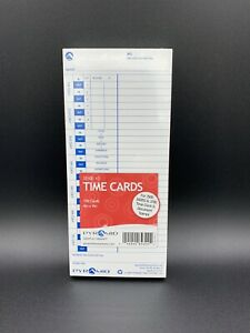 Nip Pyramid Time Cards100 4x9 35100 10 For 3500 3600 3700 Clocks Stamps