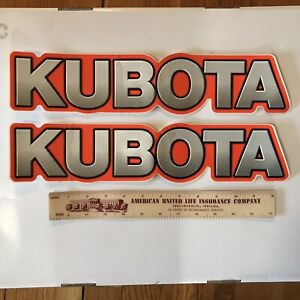 Kubota Tractor Decals Sticker Set Originals