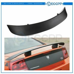 Fit For 2006 2010 Dodge Charger Factory Style Steady Black Rear Wing Spoiler