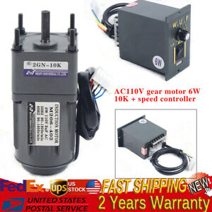 Ac Gear Motor Electric Variable Speed Reduction Controller 135rpm Torque 1 10