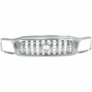 Grille For 2001 2003 Toyota Tacoma Chrome Plastic