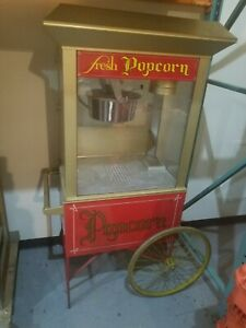 Gold Medal Gay 90 s Whiz Bang Popcorn Machine With Cart Excellent Condition