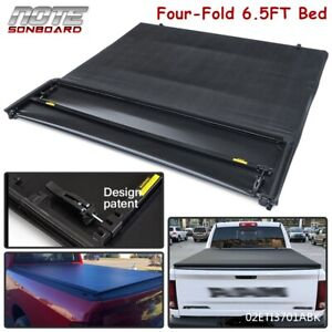 4 Fold 6 5ft Truck Tonneau Bed Cover For 2002 2021 Dodge Ram 1500 2500 3500