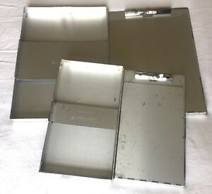 Two 2 Aluminum Clipboards 6x10 9x12 Case Storage Box Form Holder Lot