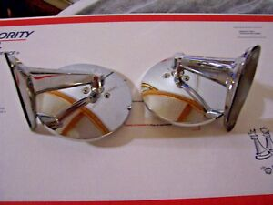 Plymouth Valiant 1960 1966 Pair Chrome Door Mirror 2pcs