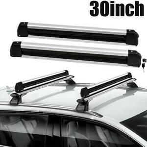 30 Universal W Locks Ski Roof Rack Carrier Snowboard Holder Roof Bars Mounted