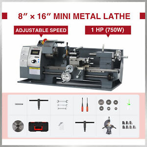 Benchtop Mini Metal Lathe Cutter For Metal And Woodworking 8 x16 750w 2250rpm