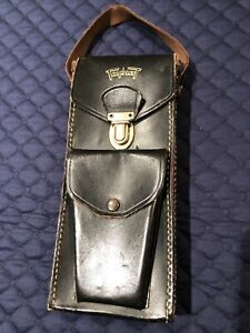 Vintage Triplett Meter Leather Case With Front Snap Pouch And Clip Opening