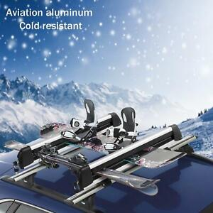 30 Universal Ski Roof Rack Carrier Holder Snowboard Roof Bars Mounted W Locks