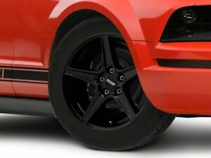 American Muscle Saleen Wheel In Black 18x9 Rim Fits Ford Mustang 05 09 Gt V6
