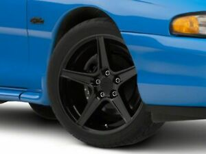 American Muscle Saleen Wheel In Black 18x9 Fits All Ford Mustang 1994 1998