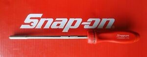 Snap On Tools Long Red Handle Magnetic Ratcheting Screwdriver W 5 Bits Ssdmr8a