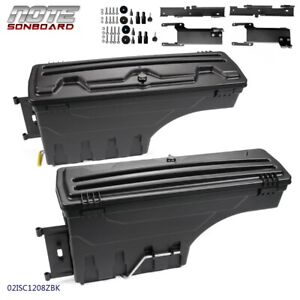 2 Set Rear Left Right Truck Bed Storage Box Toolbox For Ford F 150 2015 2019
