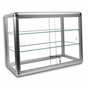 Only Hangers Silver Anodized Aluminum Countertop Showcase slightly Used