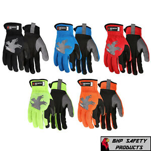 Mechanics Work Gloves Safety Heavy Duty Protection Gardening Builders Mcr Safety