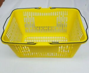 Yellow Shopping Basket Plastic With Strong Metal Handles Local Pickup Seattle