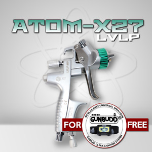 Atom X27 Spray Gun Mp Lvlp Solvent Waterborne With Free Gunbudd
