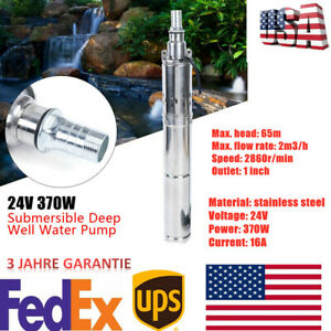370w Dc 24v Solar Power Submersible Water Pump Deep Well Pump For Farm ranch Us