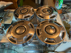 Nos 1985 1986 1987 1988 1989 1990 1991 Ford F 150 Dog Dish Hubcaps 12 Set Of 4