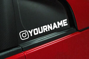 Custom Instagram Name Vinyl Decal Car Window Ig Jdm Drift Sticker Funny