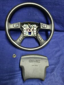 03 06 Silverado Sierra Tahoe Yukon Leather Steering Wheel W Switches And Srs