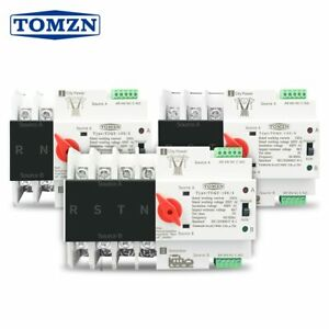 Din Rail 2p 3p 4p Ats Dual Power Automatic Transfer Switch Electrical Selector