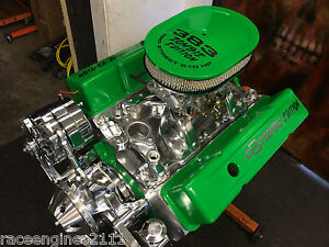 383 R Stroker Motor 521hp Roller Turnkey Pro Street Chevy Crate Engine 383 383