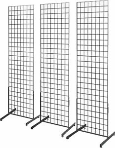 Econoco 2 X 6 Gridwall Panel Tower With T base Floorstanding 3 Pack