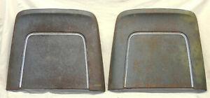 1966 Cadillac Impala Chevelle Strato Bucket Bench Seat Back Pair Metal Blue