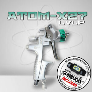 Atom X27 Professional Paint Spray Gun Mp Lvlp Solvent Waterborne Free Gunbudd