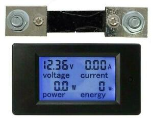 Pzem 051 100a Dc Lcd Digital Panel Power Meter Kwh Voltmeter Ammeter With Shunt