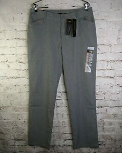 NEW Lee 12 Relaxed Fit Wrinkle Free Straight Leg Ash Heathered Gray Dress Pants $16.15