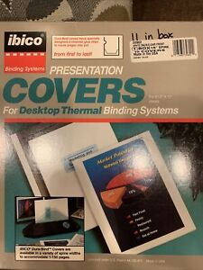 11 Ibico Desktop Thermal Binding Presentation Covers Qty 11 Covers 32802