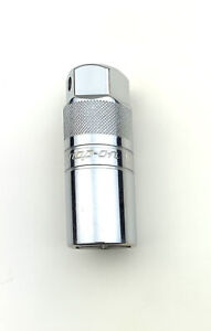 Snap on Tools S9704ka 3 8 Drive 13 16 Knurled 6 Point Chrome Spark Plug Socket