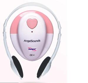 Angelsounds Jpd 100s 3mhz Fetal Prenatal Heart Doppler w gel And Battery Pink