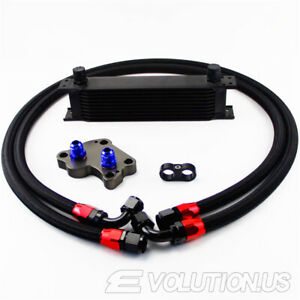 10 Row Oil Cooler Kit For Bmw Mini Cooper S Supercharger R53 01 06