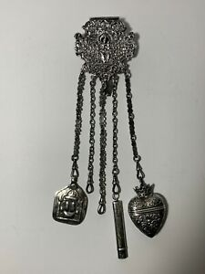 Anglo Indian Silver Chatelaine