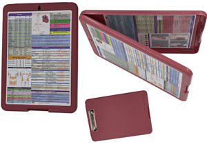 Nursing Storage Clipboard rustic Red reference Sheets great For Clinical